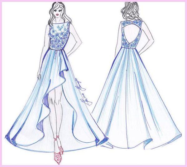 cartamodelli abito da sera