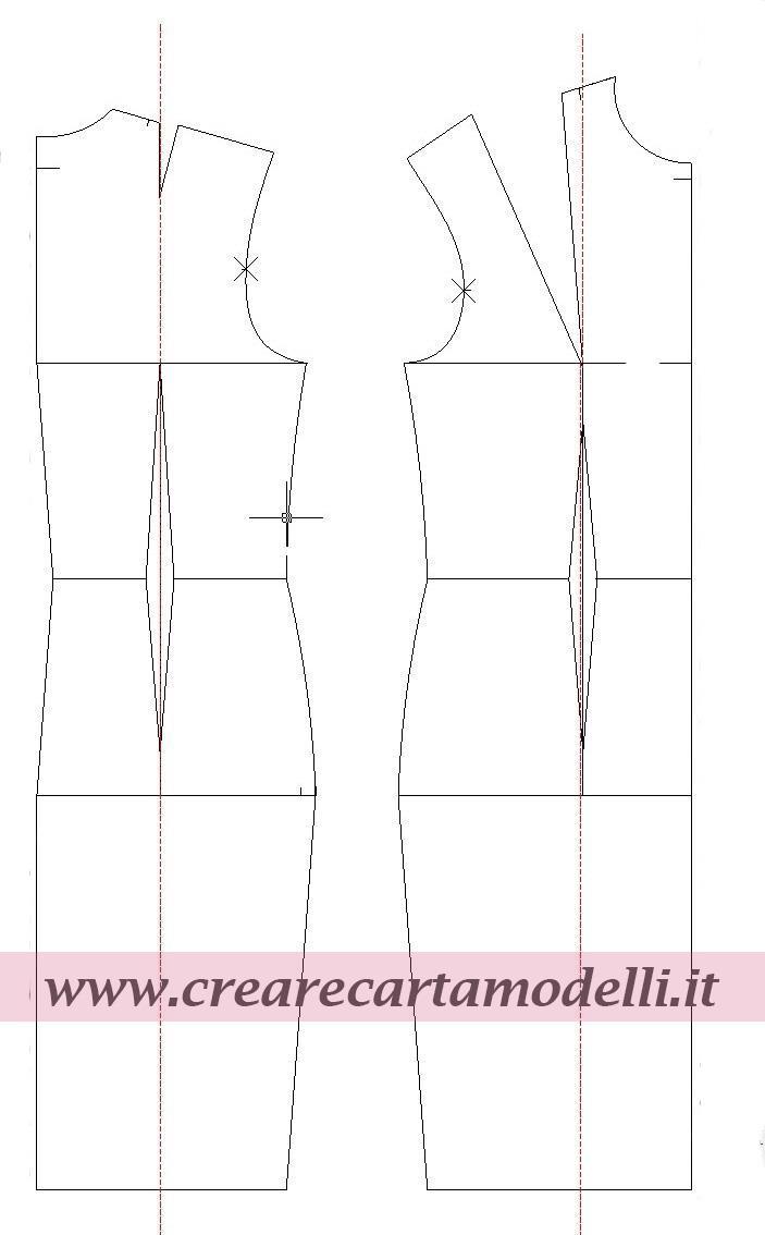 base su misura per abito tubino