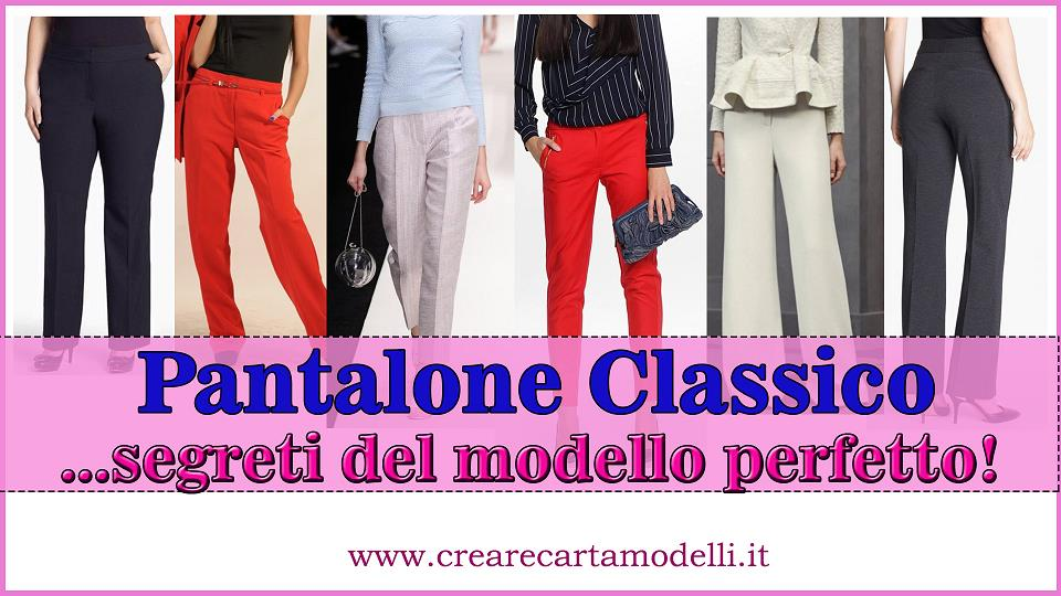 modello del pantalone classico