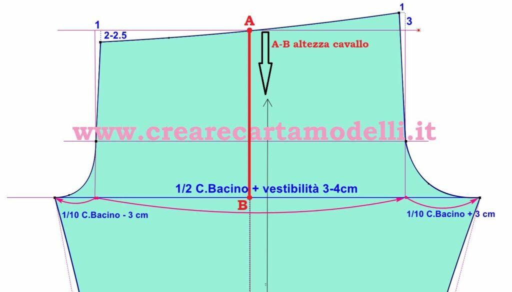 come misurare cavallo del pantalone, pantalone con elastico modello