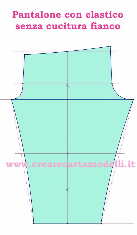 pantalone classico con elastico, modello