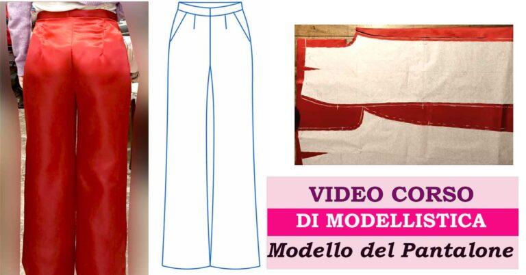 pantalone classico cartamodello